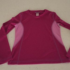Rei girls size m 10/12 pink thermal base layer
